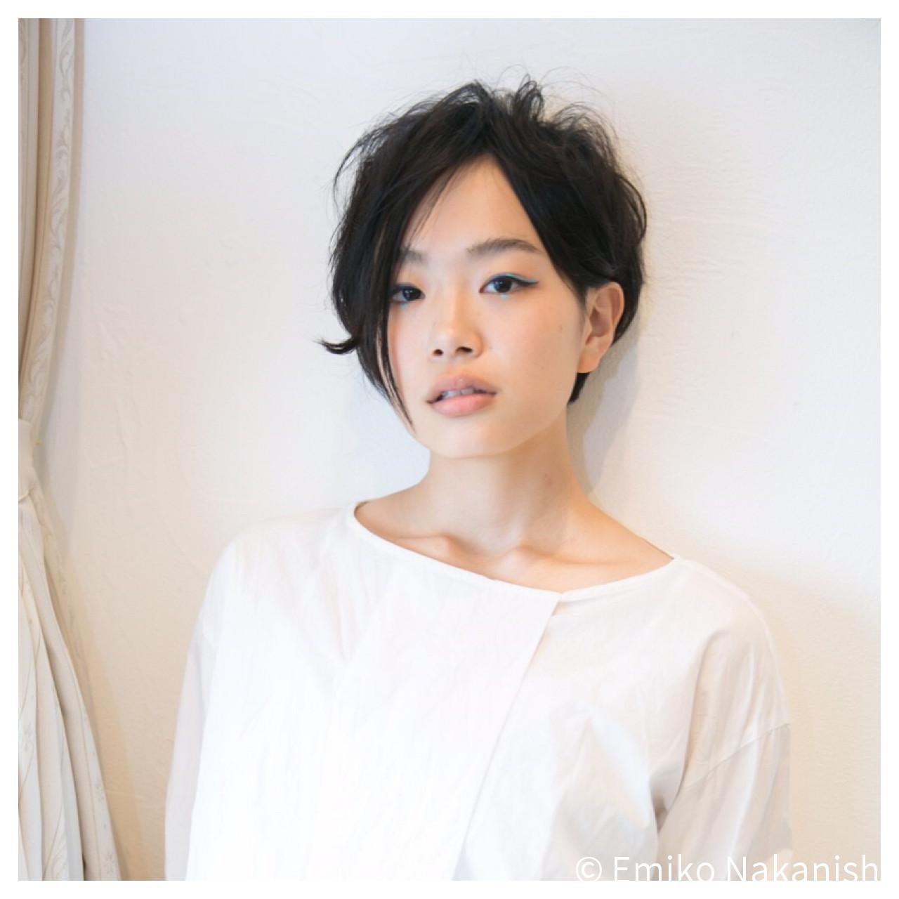 黒髪×マニッシュショートでクールに Emiko Nakanishi