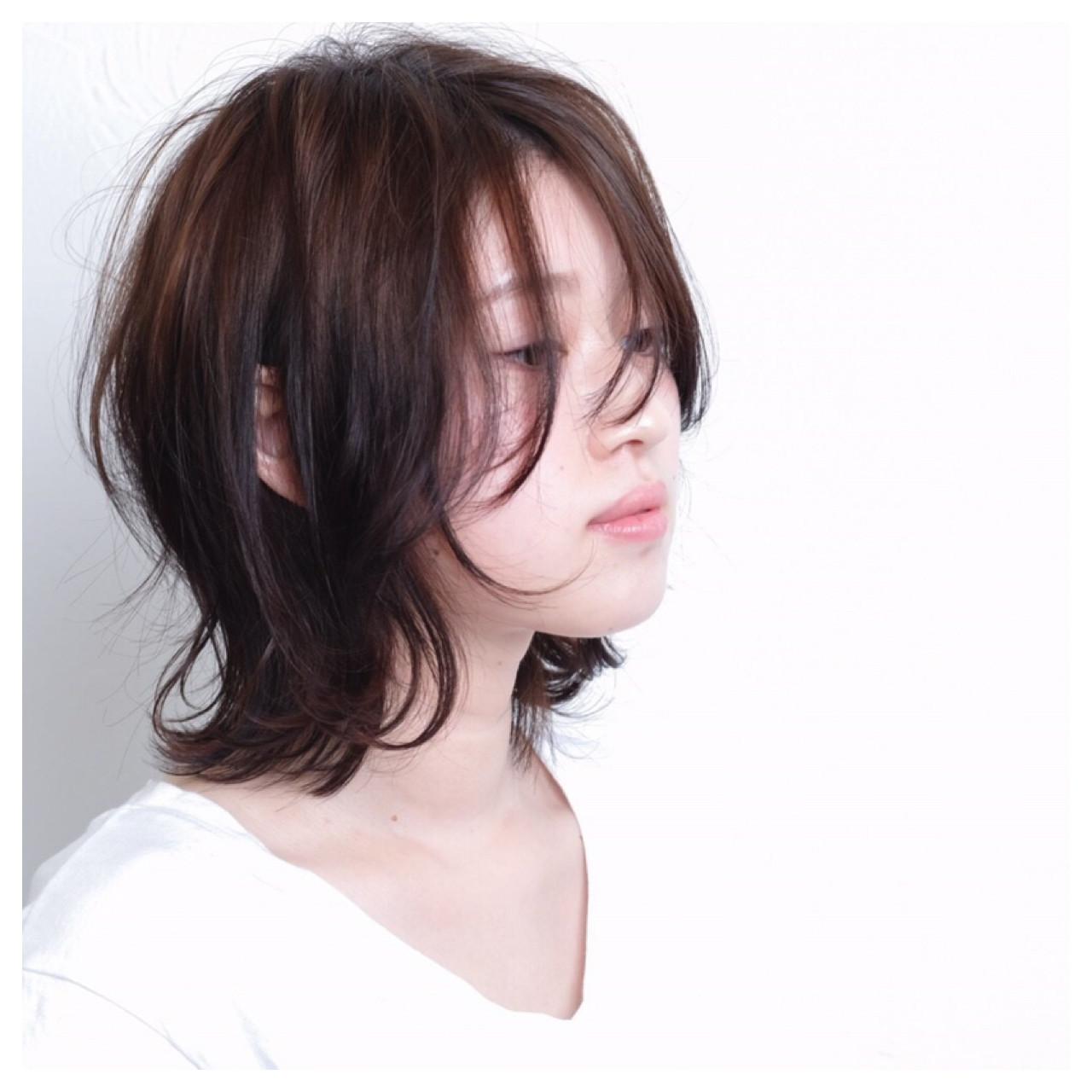 伸ばしかけでもアンニュイウェーブならこんなに可愛い Emiko Nakanishi