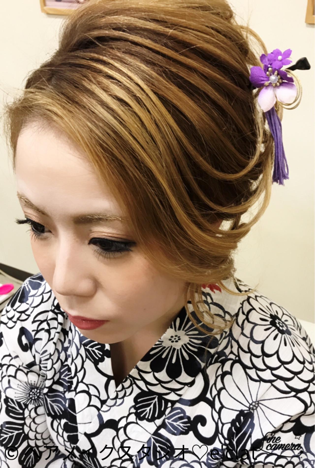 髪ツヤを意識して♡シックなワンレン夜会巻き ヘアメイクスタジオ♡e'clat