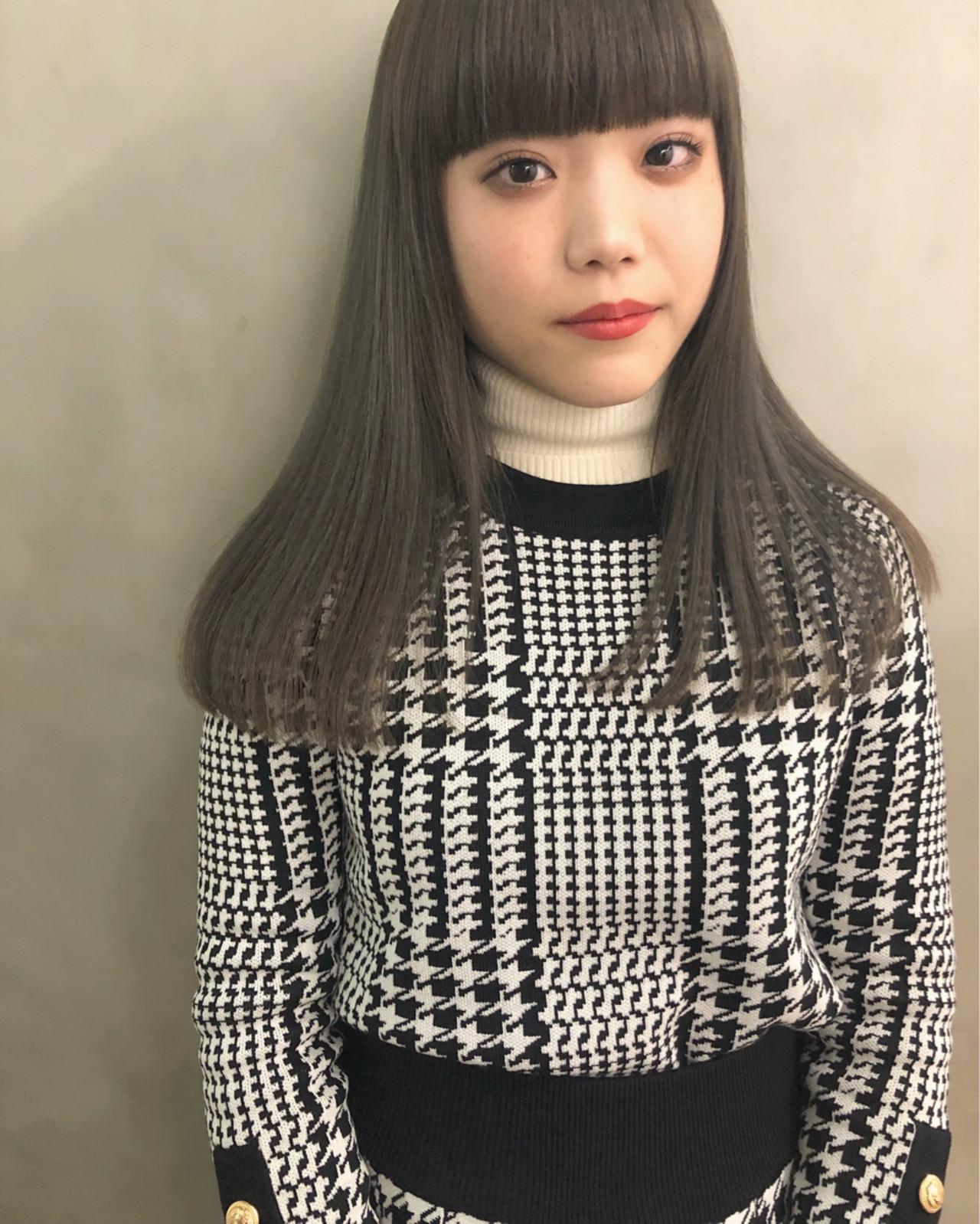 ぱっつんロングなら小顔な女性になれる♡ 野田和宏 | LIM+LIM