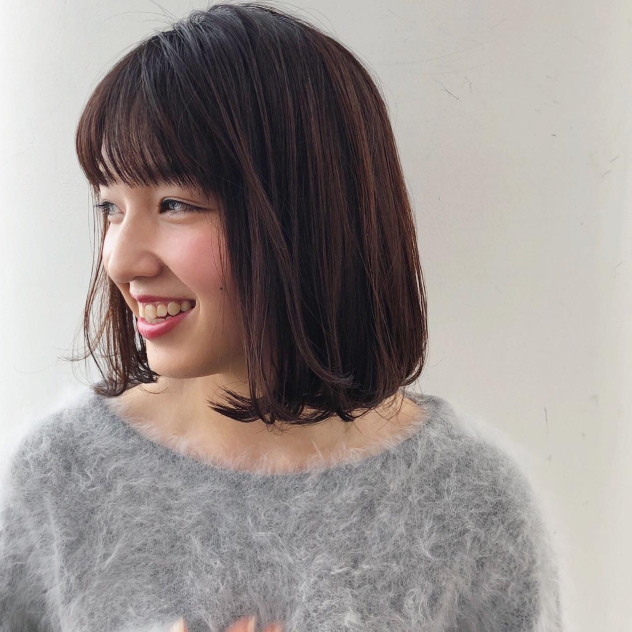 ぱっつん前髪がかわいいストレートボブ 古田 千明 // ZACC