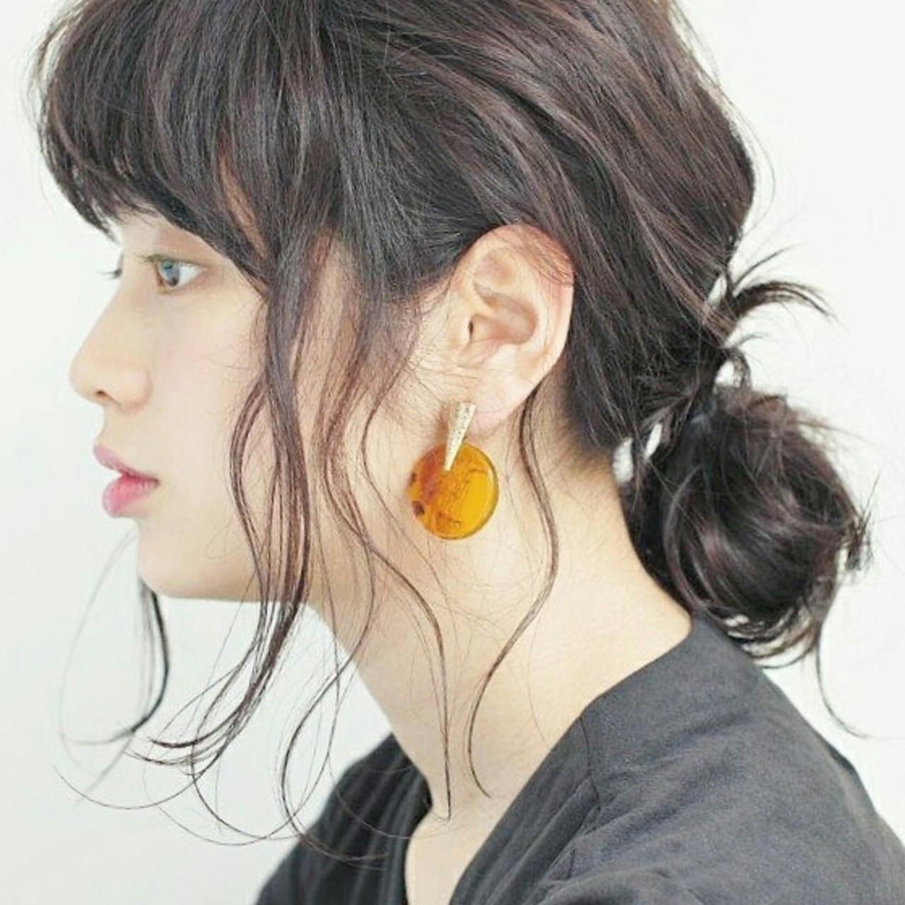 大人っぽ♡抜け感がおしゃれなローメッシバンアレンジ Yukie Horiuchi