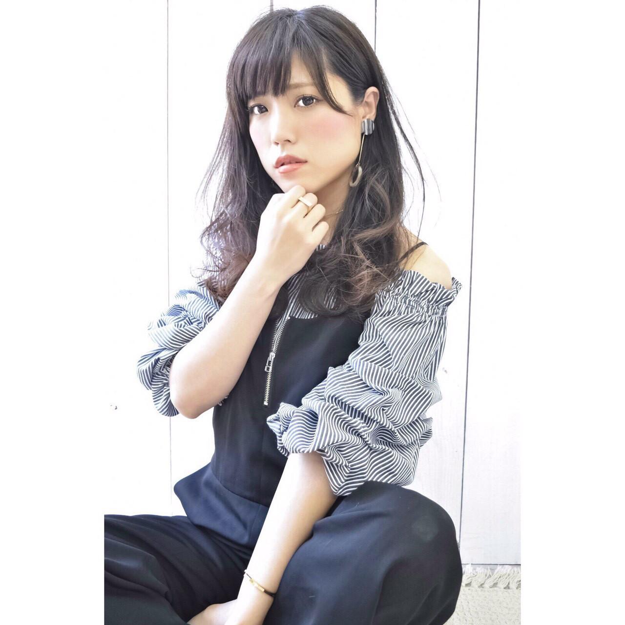 斜めバングならひし形シルエットに Marika Yoshioka