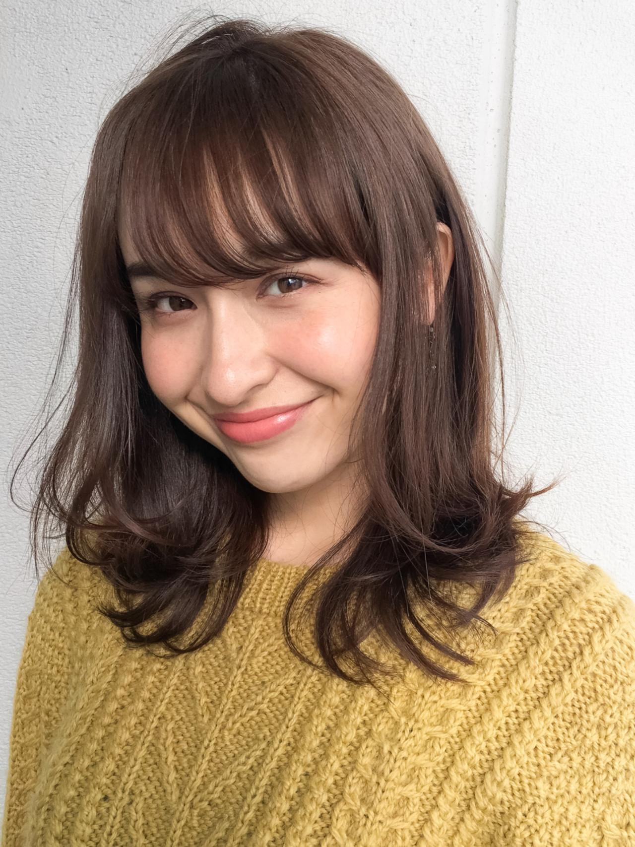 厚めの前髪でも明るいアッシュブラウンでバランスを GARDEN harajyuku 細田