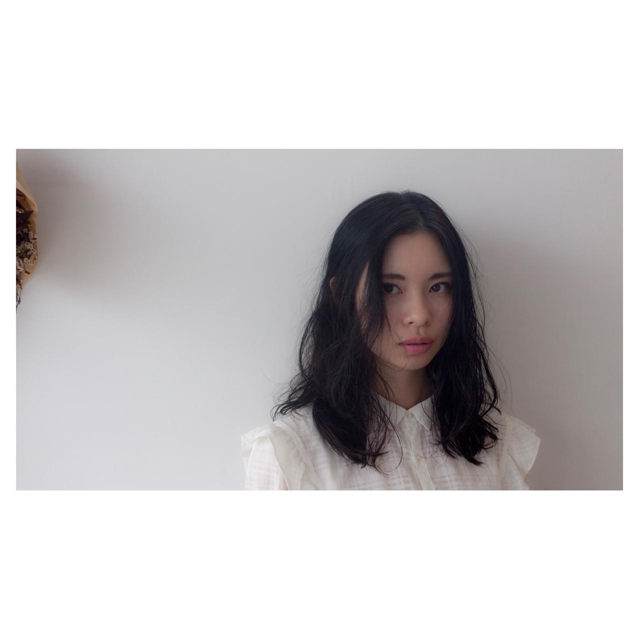 黒髪×ゆるふわパーマならやわらかい雰囲気に! 中村真一 | hair make No.8 宮崎市