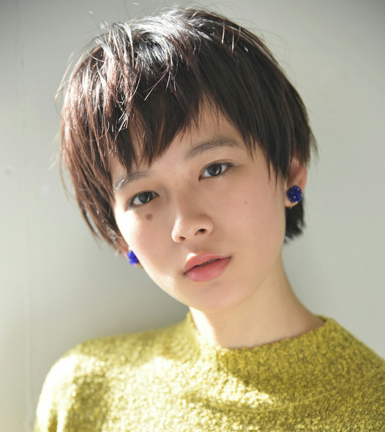 アシンメトリー前髪でつくる小顔ベリーショート 山口 華絵 Lépés Nakameguro