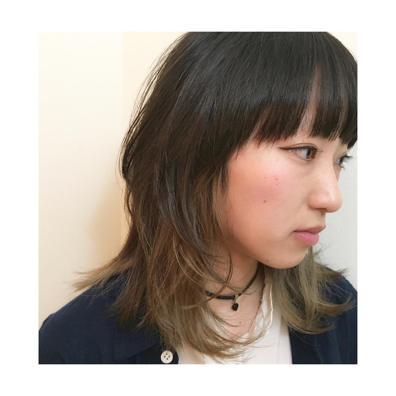 外国人風 ストリート ウルフカット モード ヘアスタイルや髪型の写真・画像