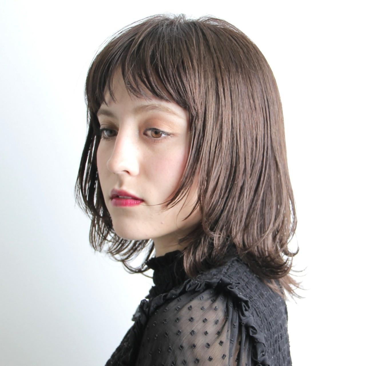 モード ボブ 似合わせ ウルフカット ヘアスタイルや髪型の写真・画像
