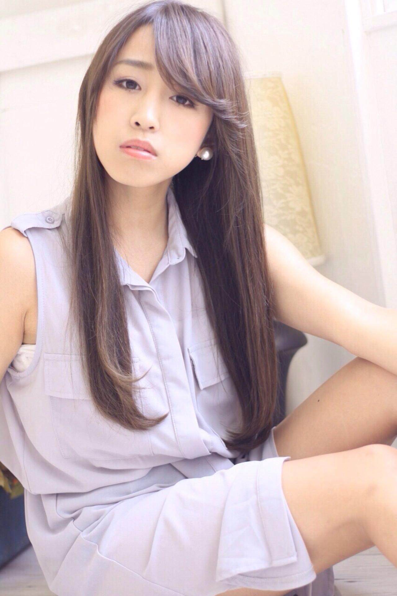 流れを出す面長さんにおすすめの前髪アレンジ 三田村綾香