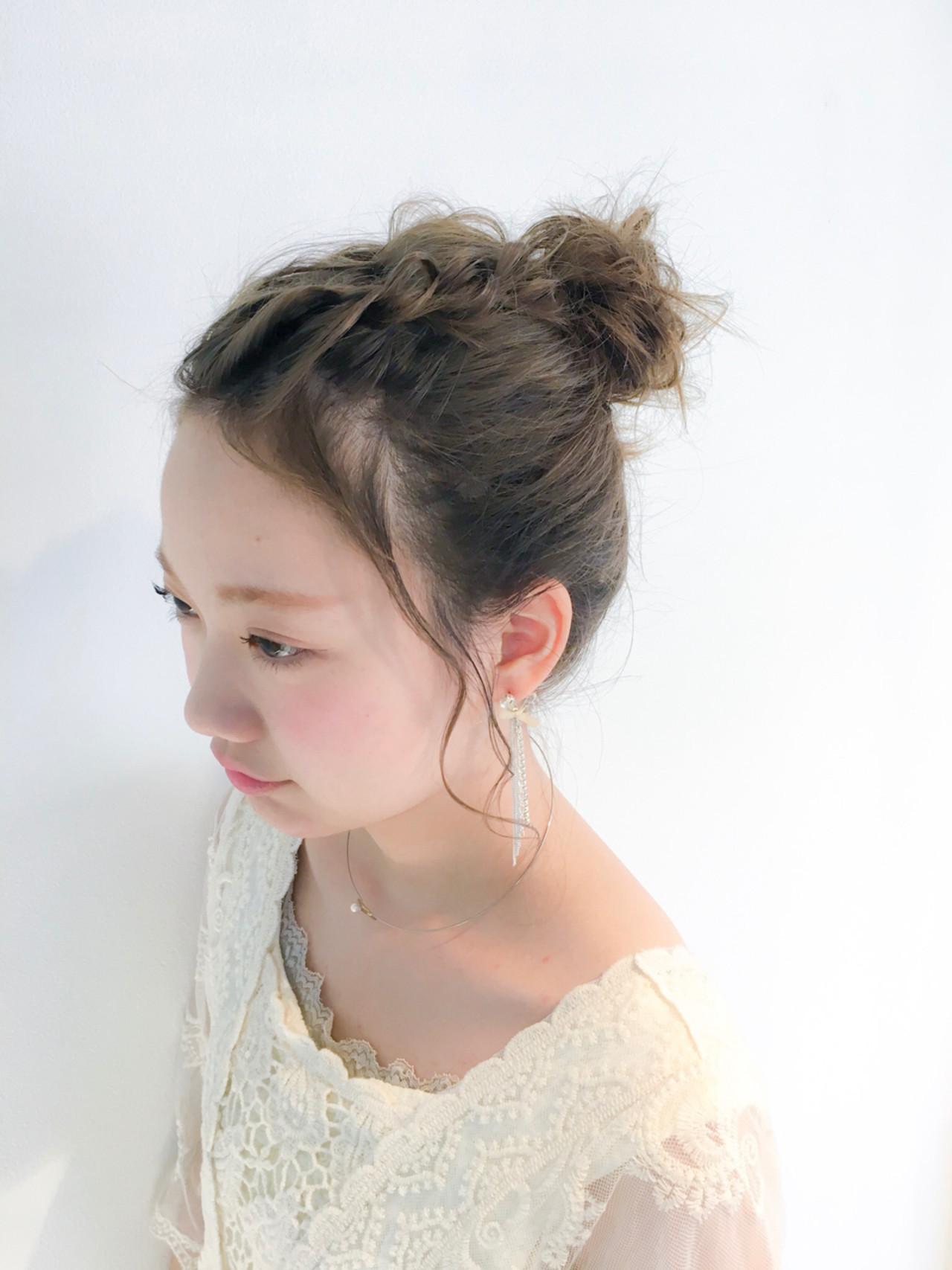 前髪なしお団子ですっきりとした印象に♪ 美容師 HIRO | Amoute/アムティ