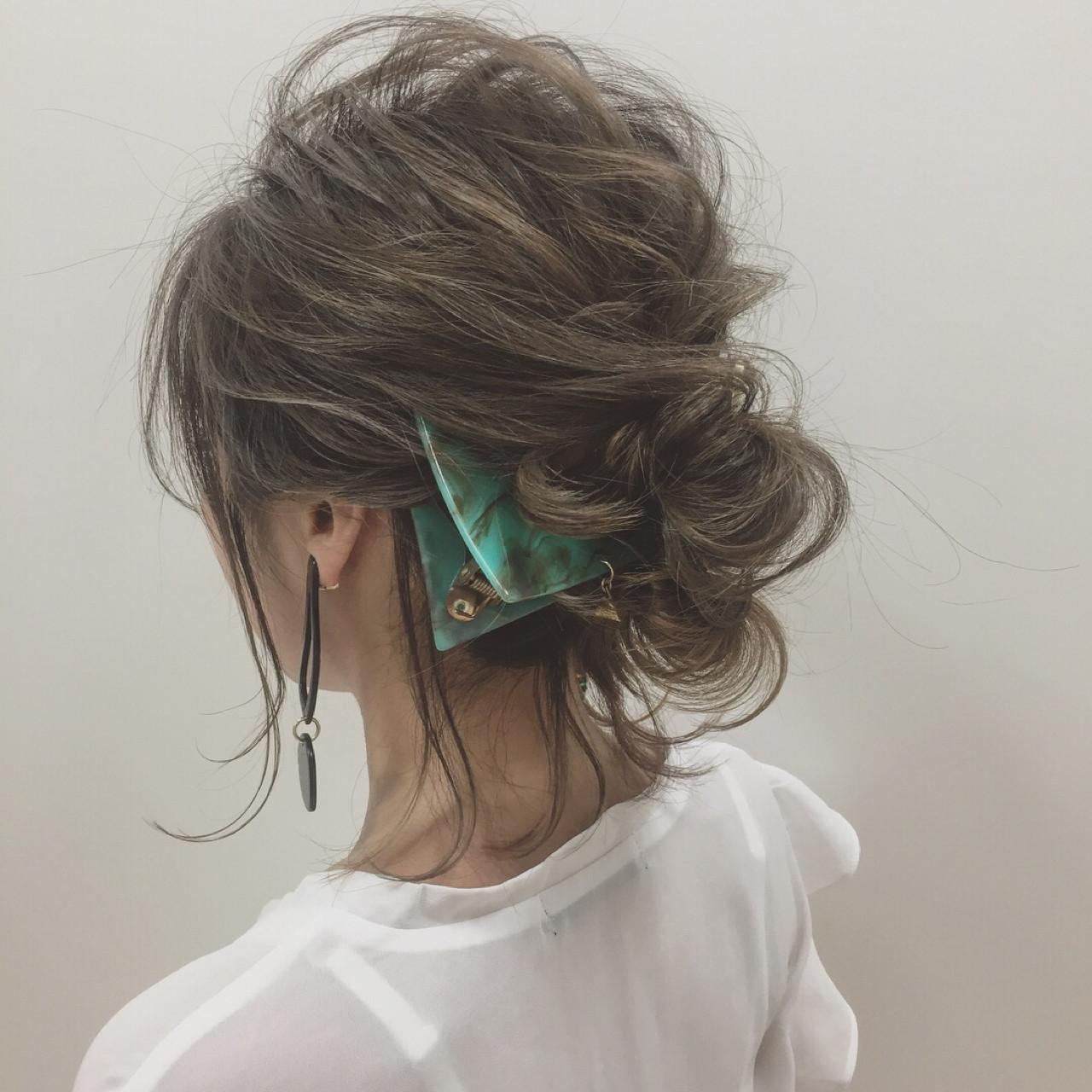 リラックス 大人女子 ヘアアレンジ 透明感 ヘアスタイルや髪型の写真・画像