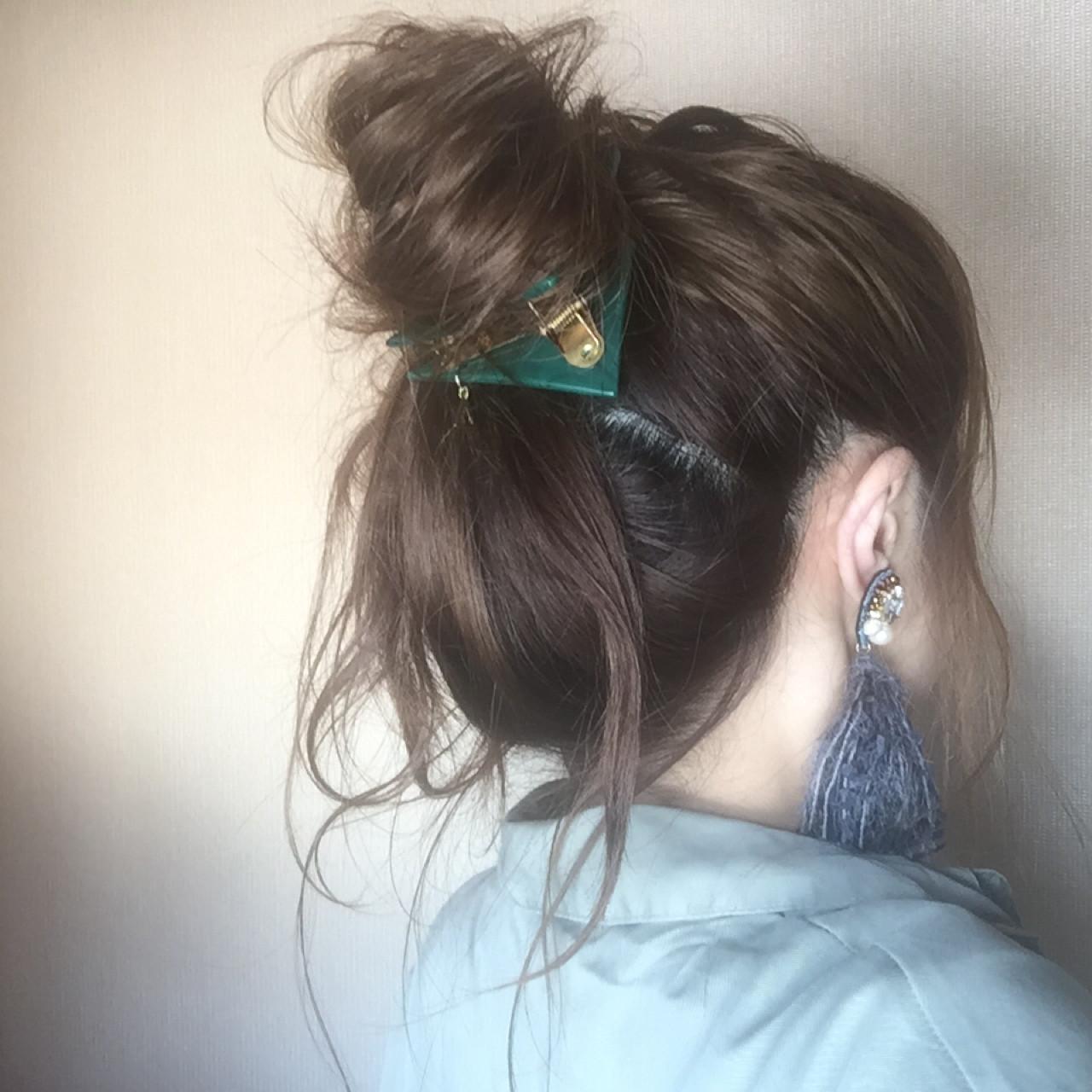 大人女子 ヘアアレンジ お団子 ロング ヘアスタイルや髪型の写真・画像