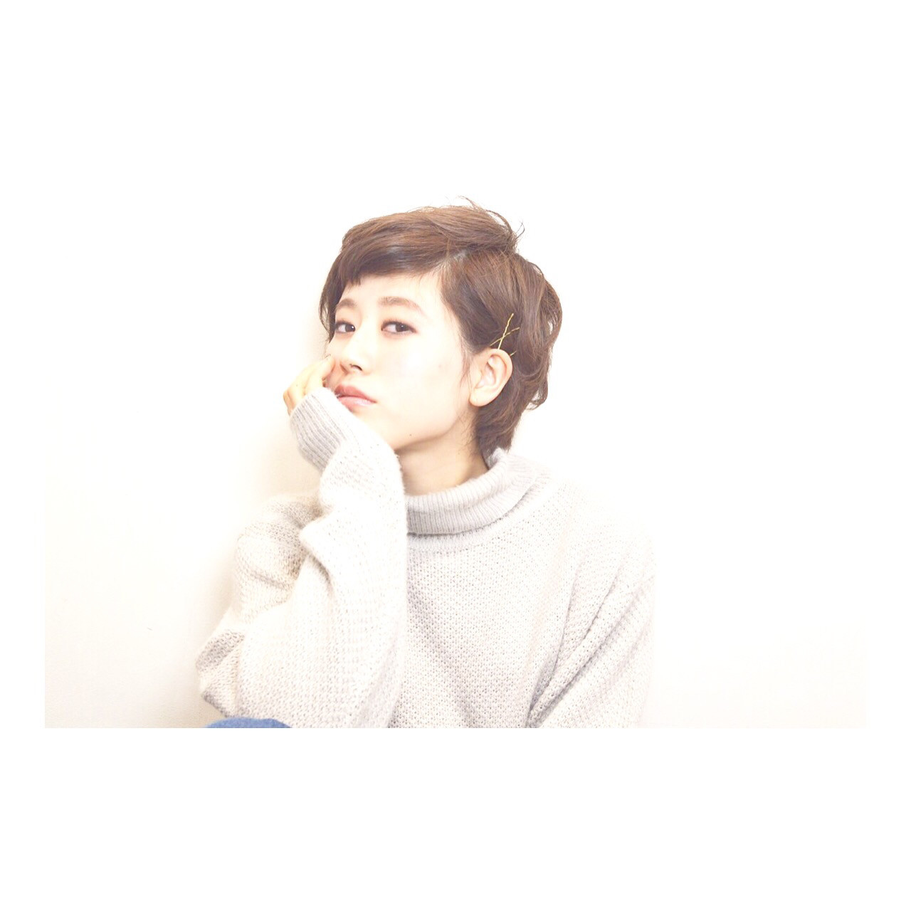ピンを使って耳かけショート miyuki saito | lani hair