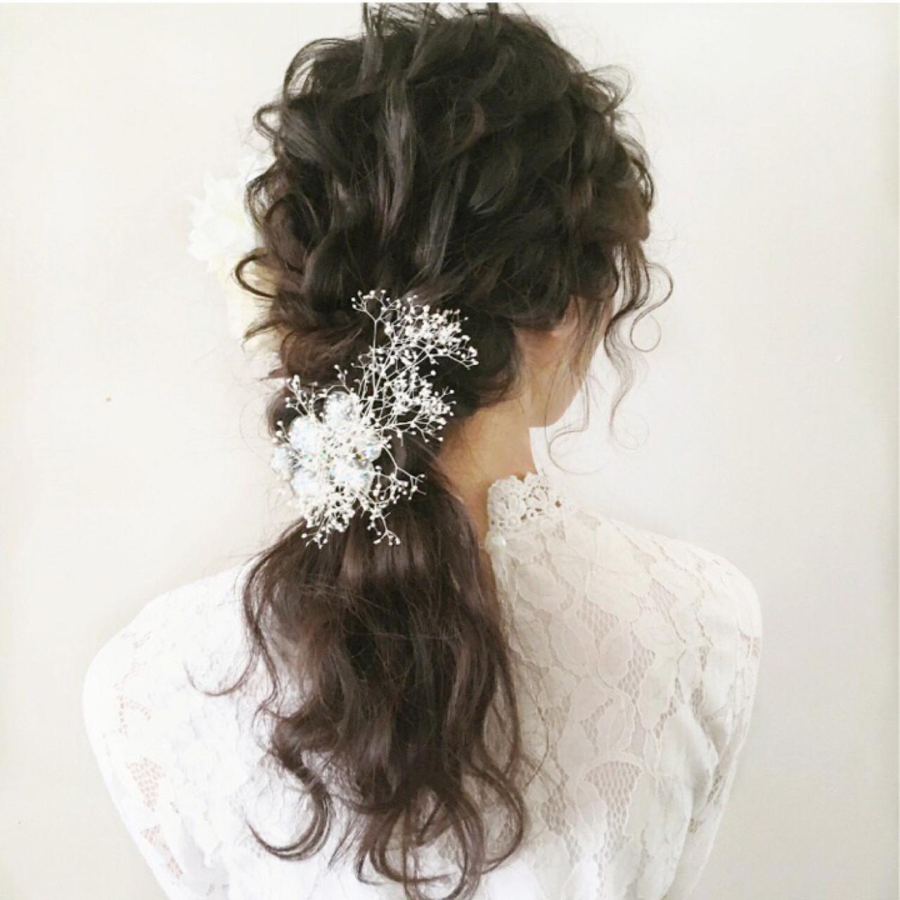 クラシカルなドレスには柔らかいダウンスタイルも tomoya tamada
