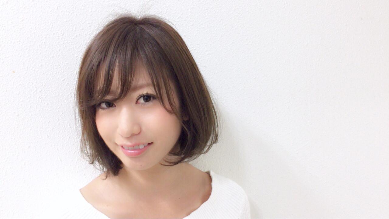 ショートボブ×シースルーでキュートな女性に! Taniguchi Yukiko  HEART