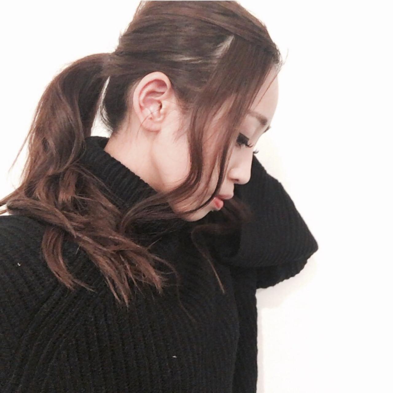 前髪すっきり♡ポニーテール 三田村綾香
