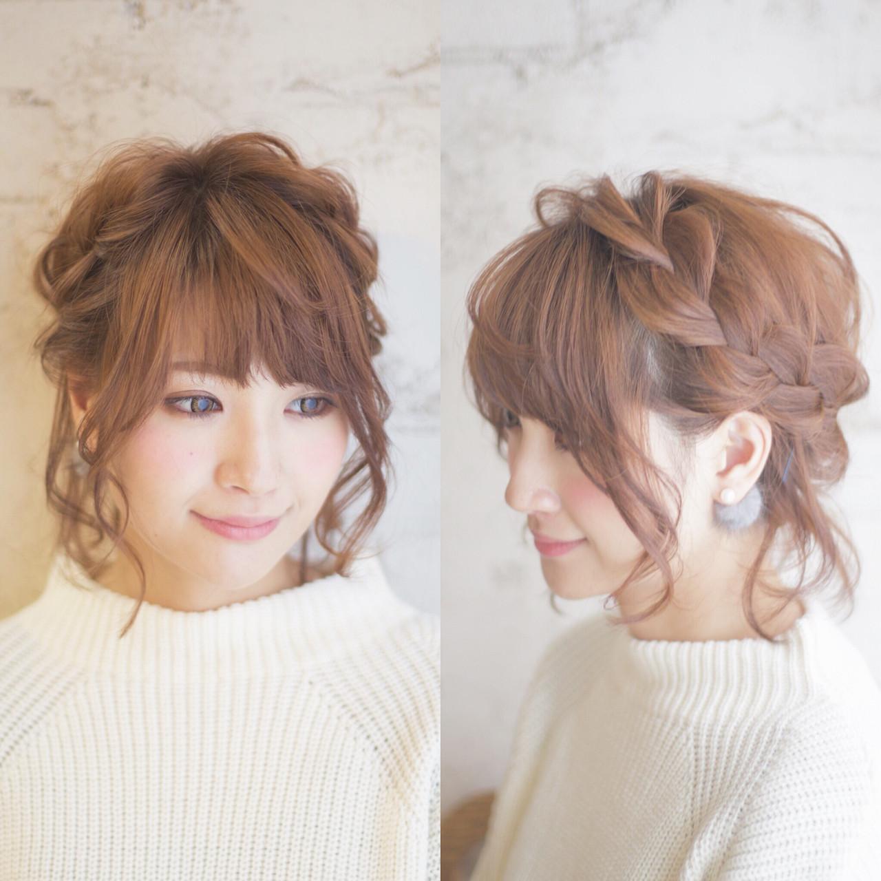 ふんわり編み込みボブアレンジ♡ 谷本将太 nalu hair | nalu hair (ナルーヘアー)