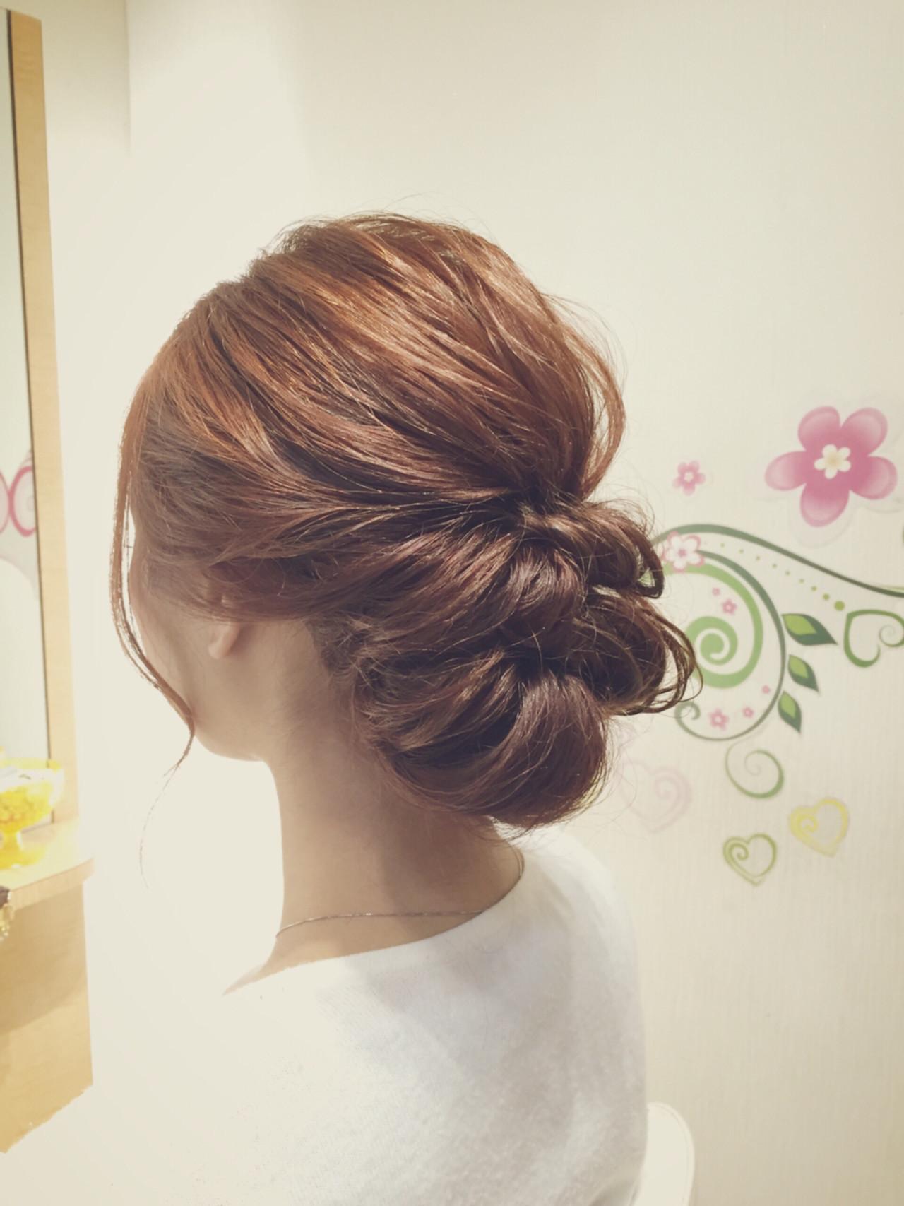 大人かわいい ヘアアレンジ ロング ギブソンタック ヘアスタイルや髪型の写真・画像