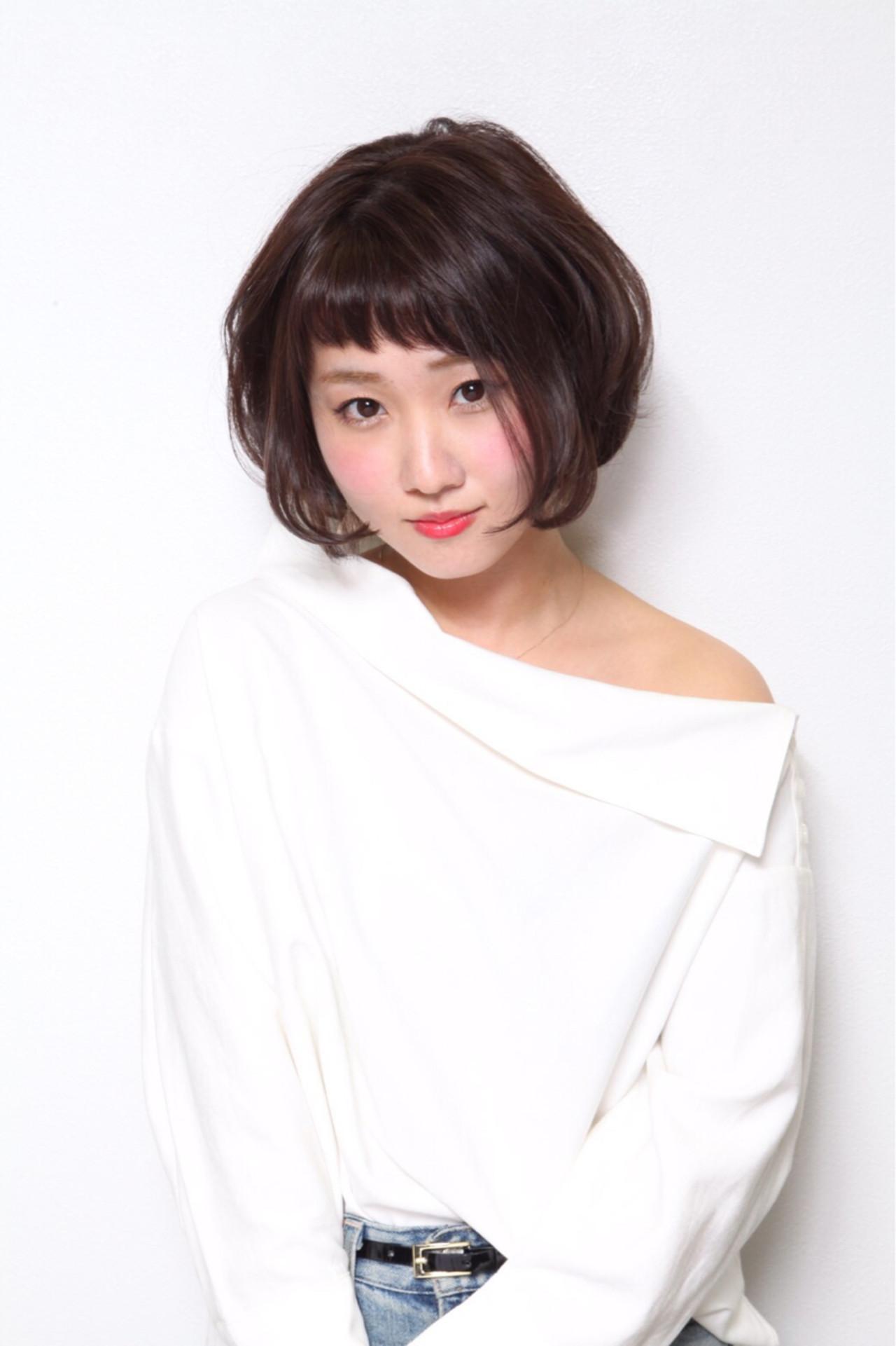 芸能人にも人気♪田中美穂風カジュアルボブ Ayumi