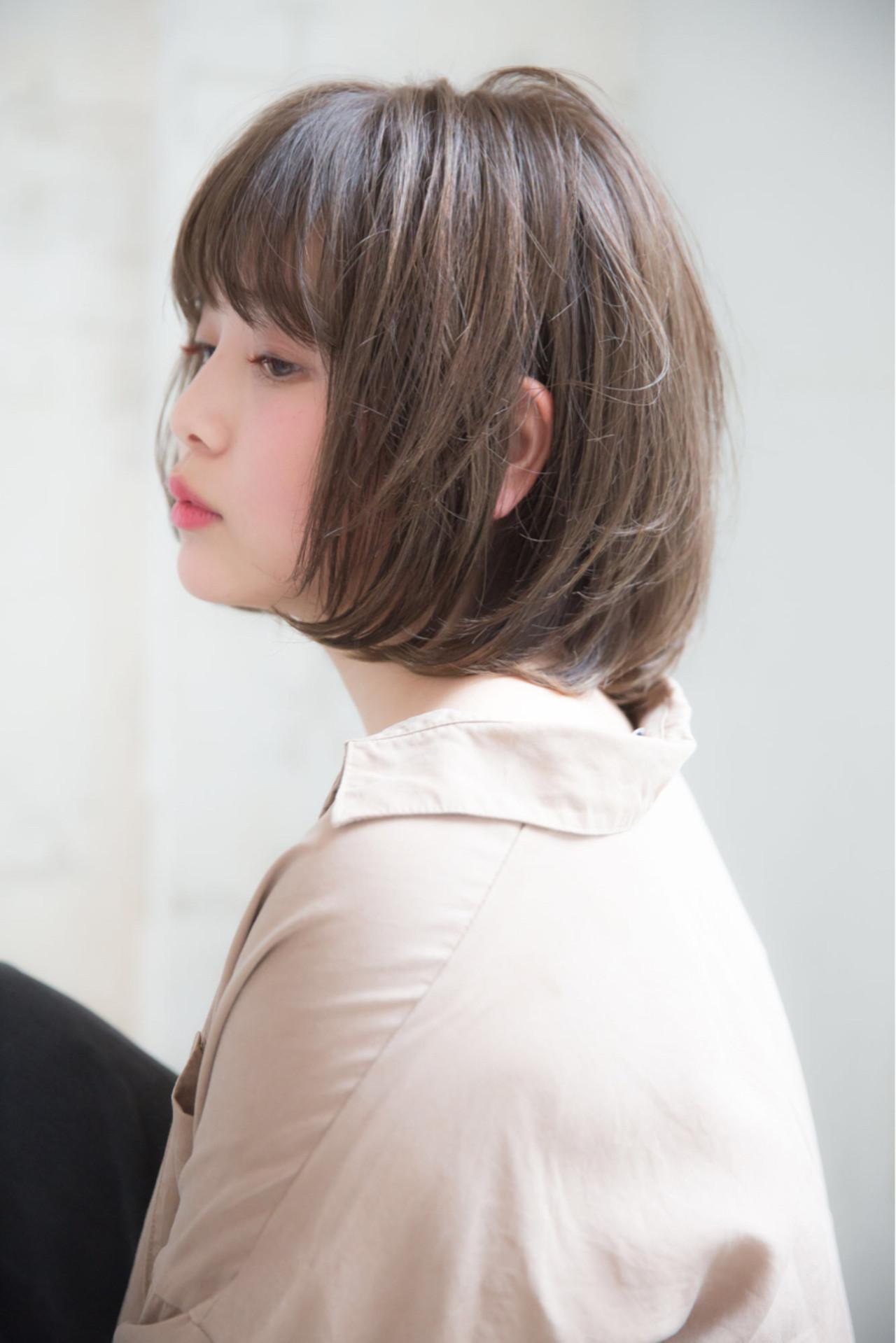 重め前髪×ワンカールのマニッシュボブ 浦野 陽介