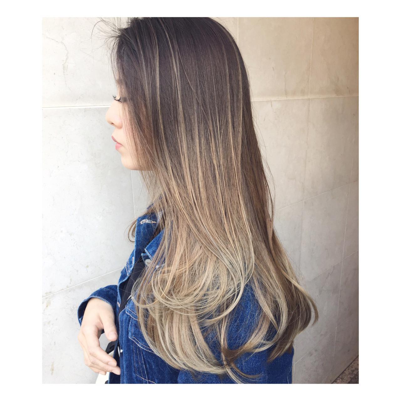 根元は黒髪のグラデーションで外国人風に♪ 西嶋えり子 | HAIR'S Lunetta