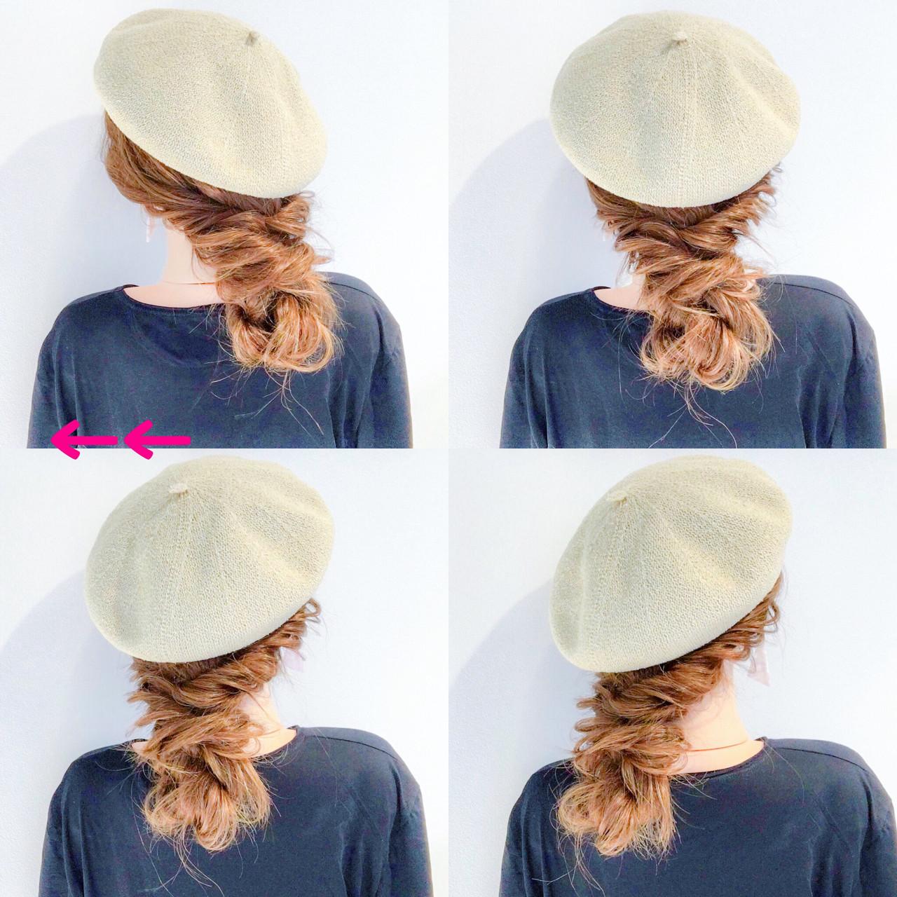 ベレー帽はガーリーでオシャレな印象に 美容師 HIRO