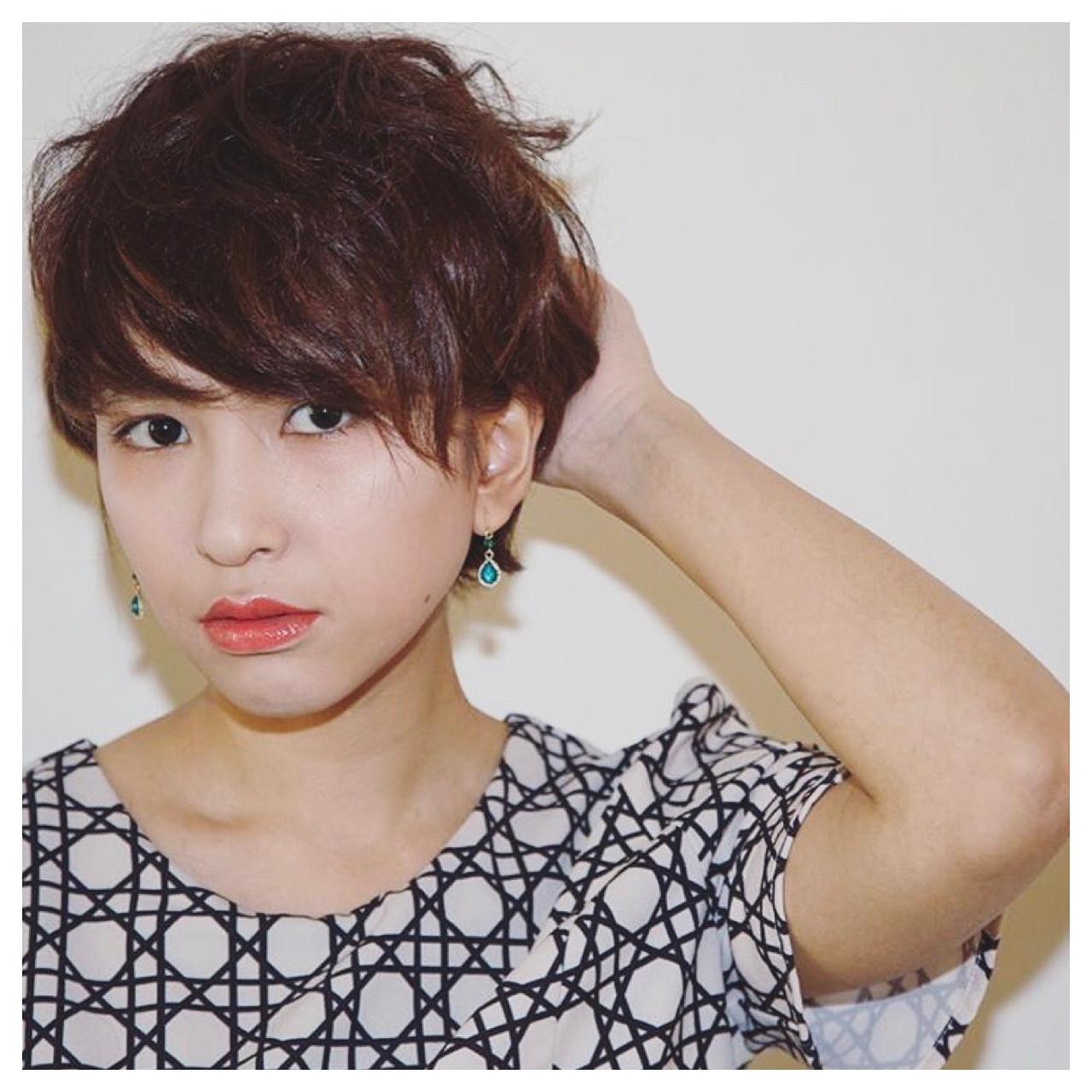 強い雰囲気を兼ね備えた大人女子っぽいショートヘア 飯田 セイナ
