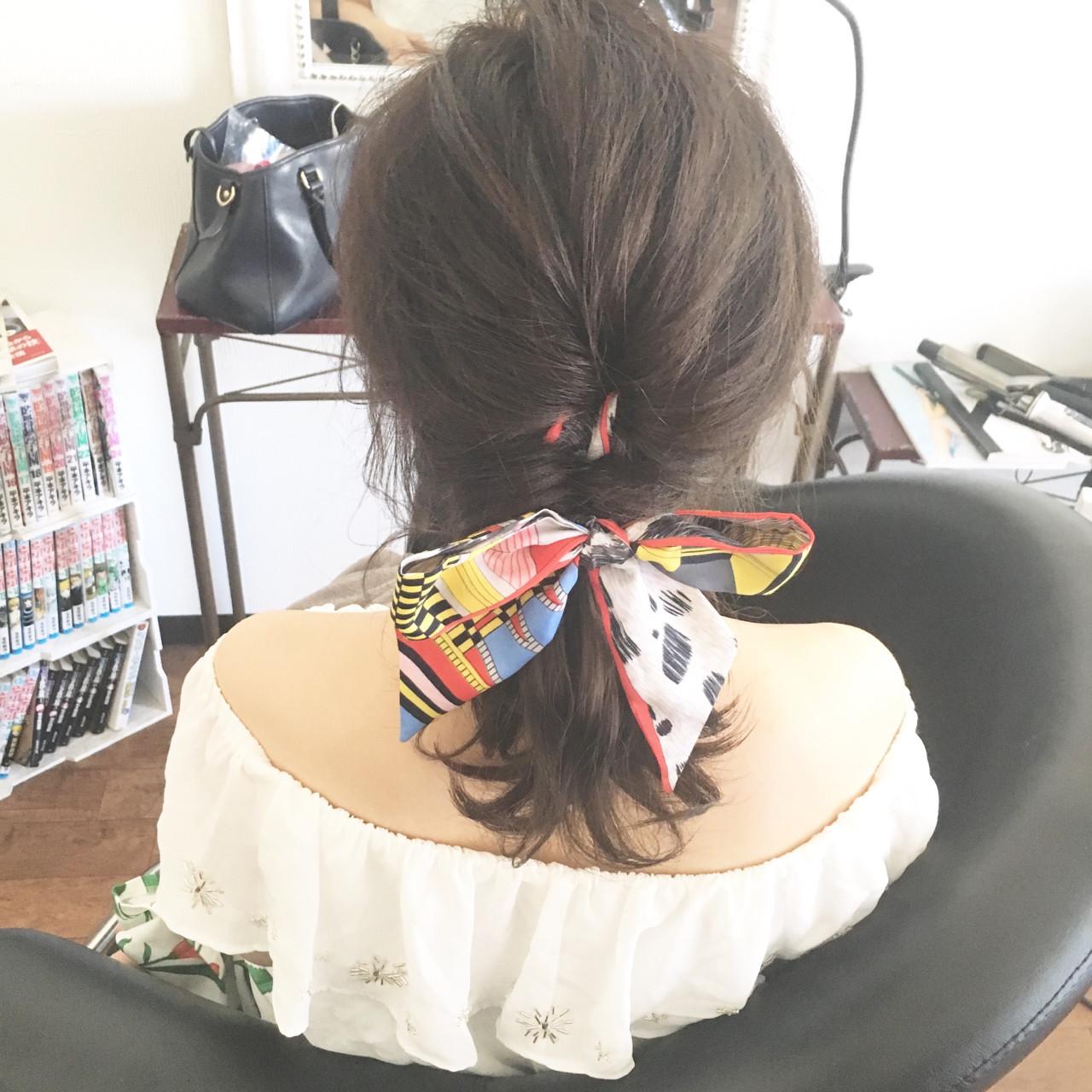 スカーフを使ったアレンジスタイル hiroki | hair latelier emma