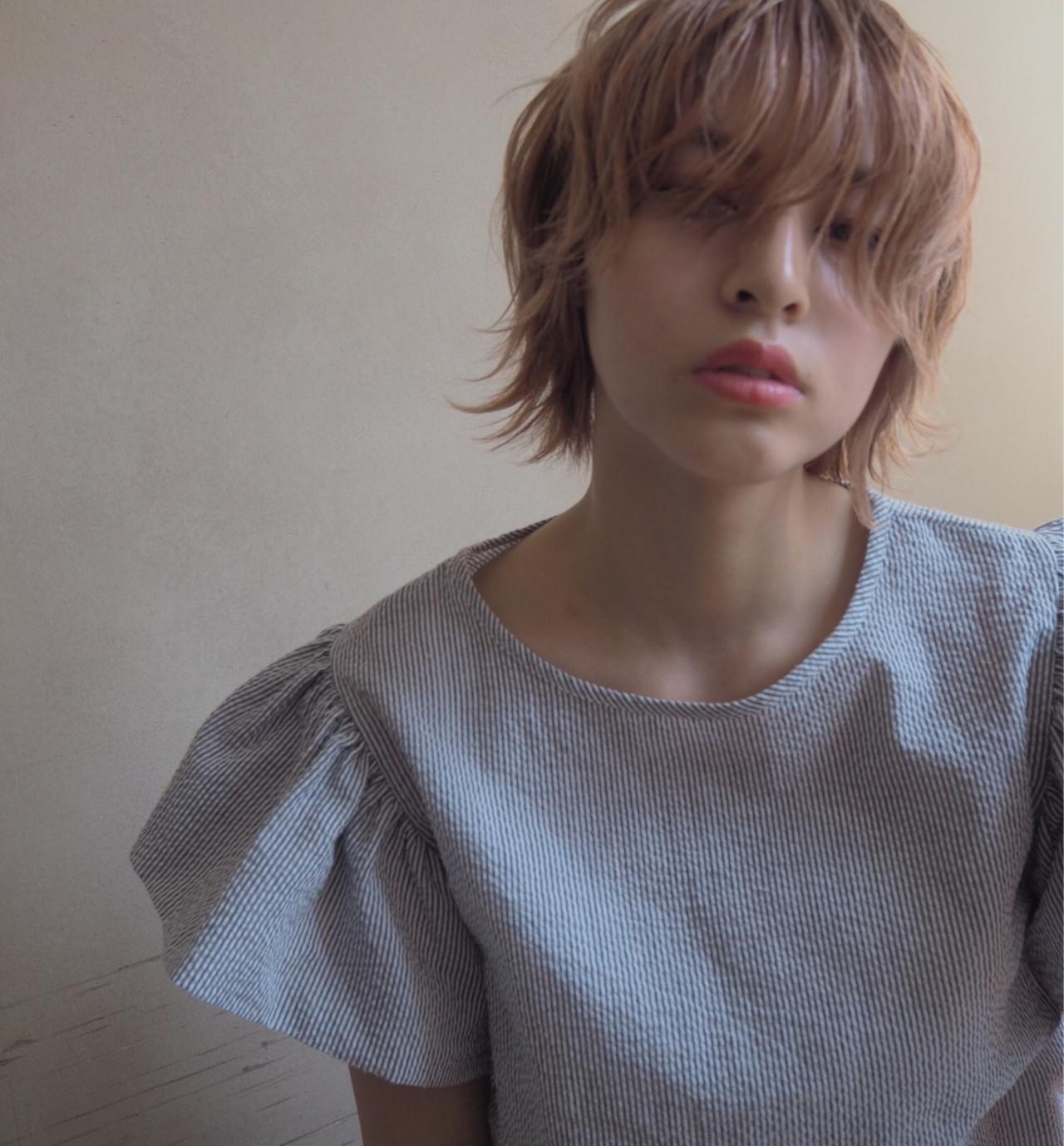 シースルーうざバングでアンニュイショート♡ 井上可南子
