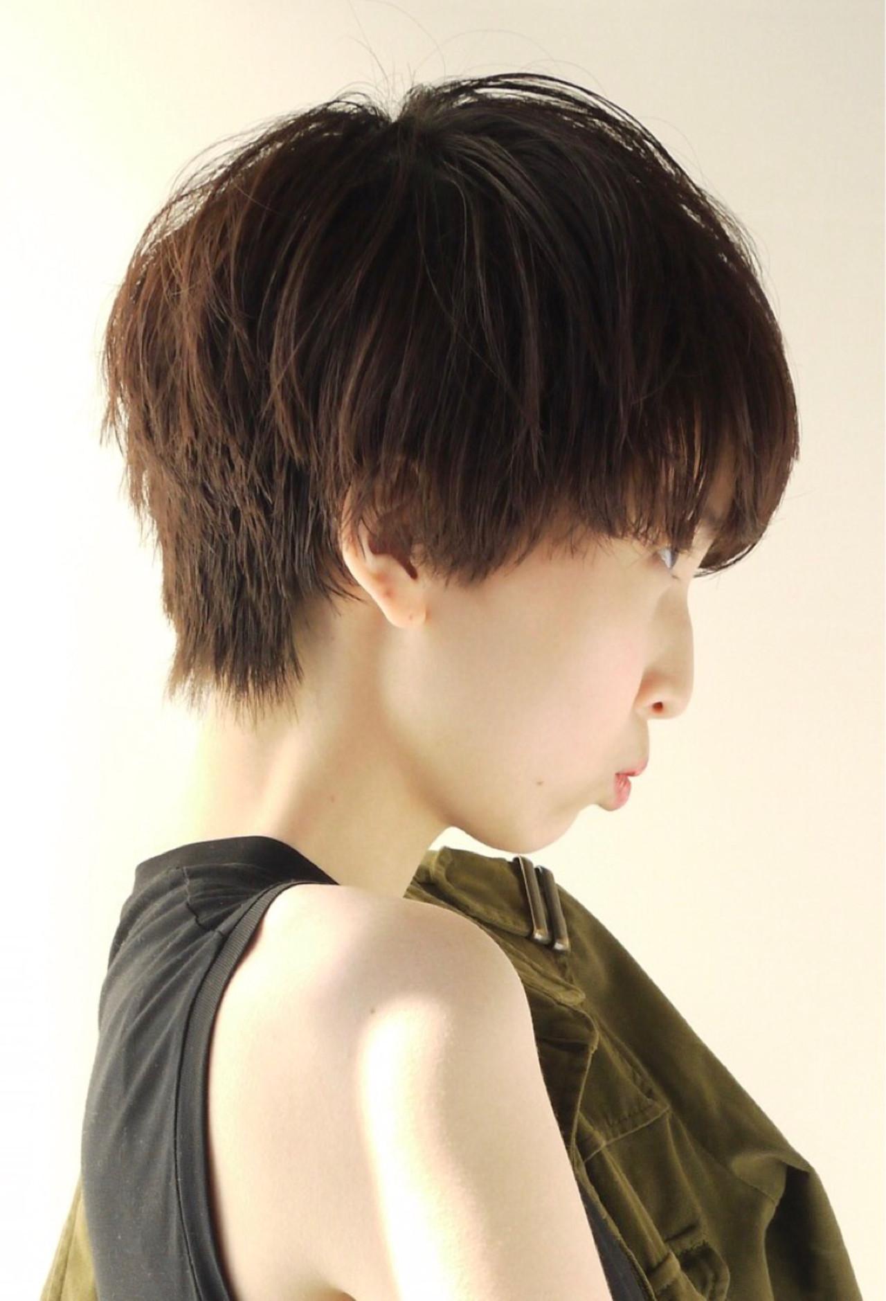 ナチュラル 黒髪 ショート スポーツ ヘアスタイルや髪型の写真・画像