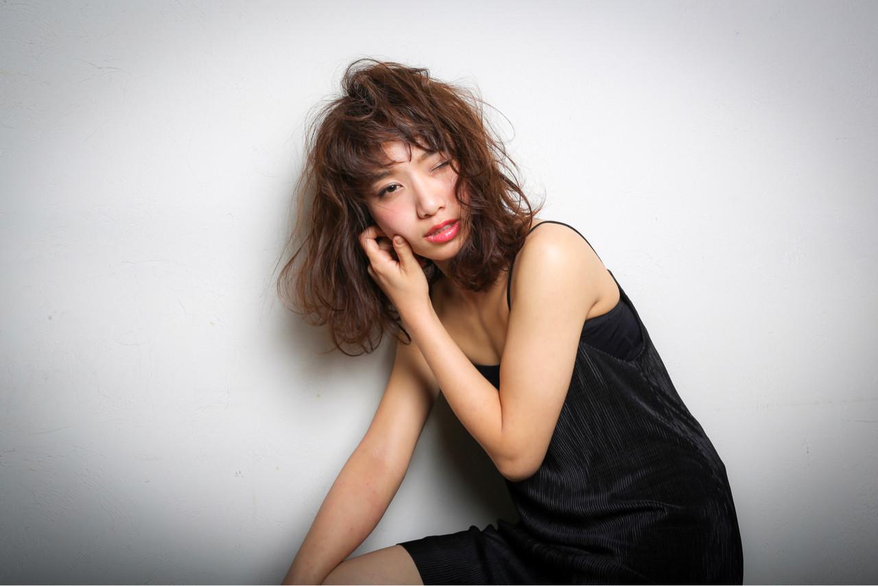 立体感のあるふんわりアクティブミディ 松村幸子