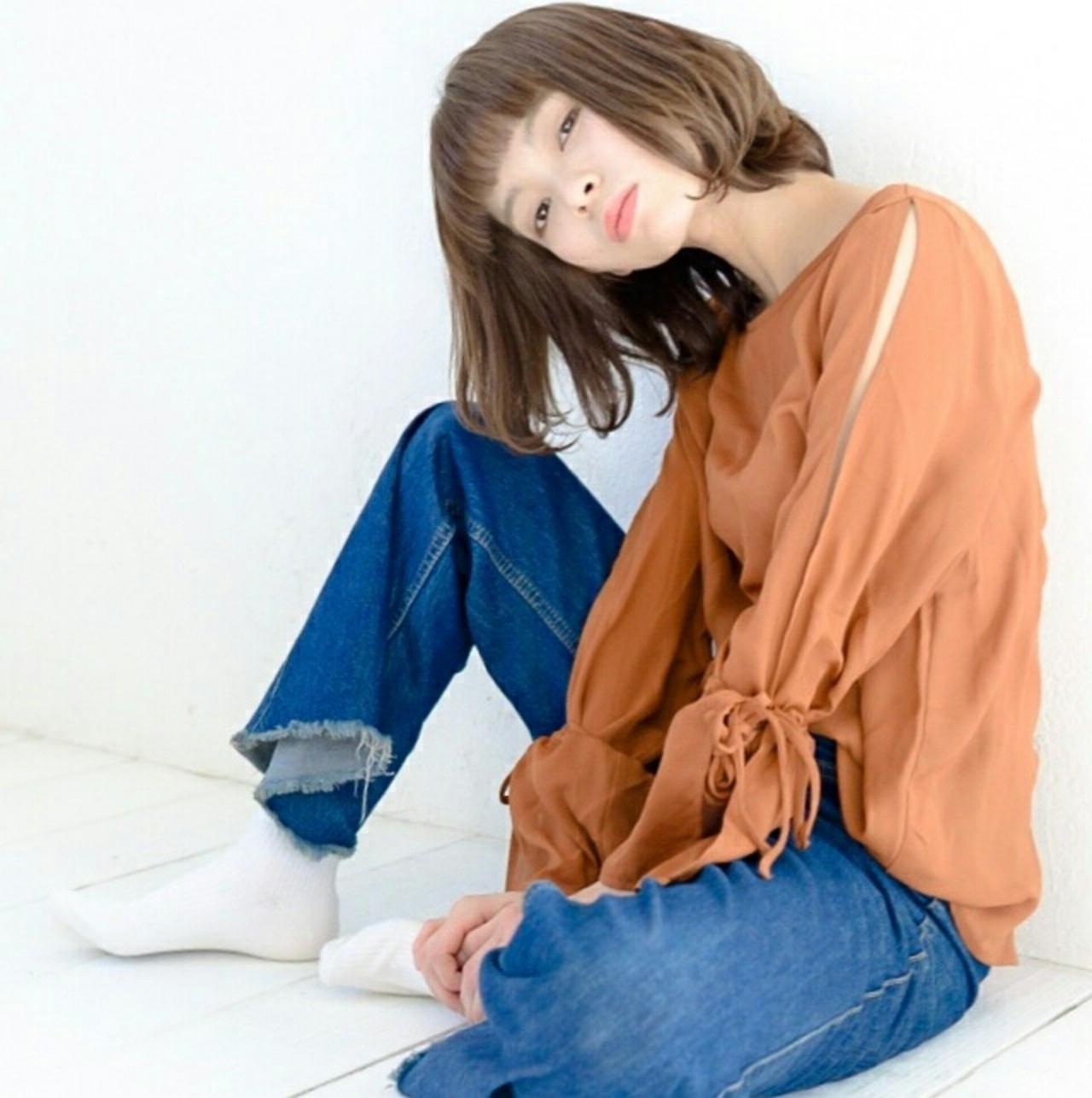 前髪ぱっつんストレートのショートボブ 萩原 翔志也/vicca