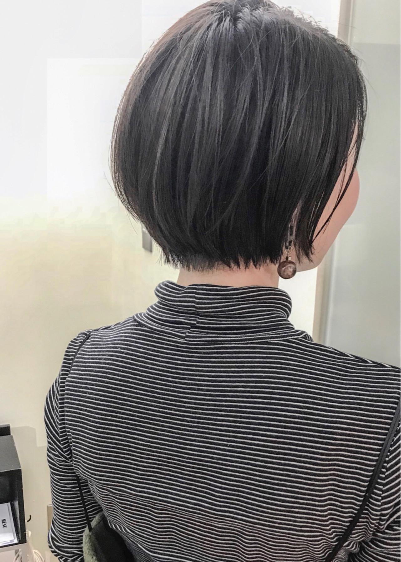 横顔美人♡黒髪ショートボブはウェット感が大事 yumiko/sapporoSKNOW | SKNOW