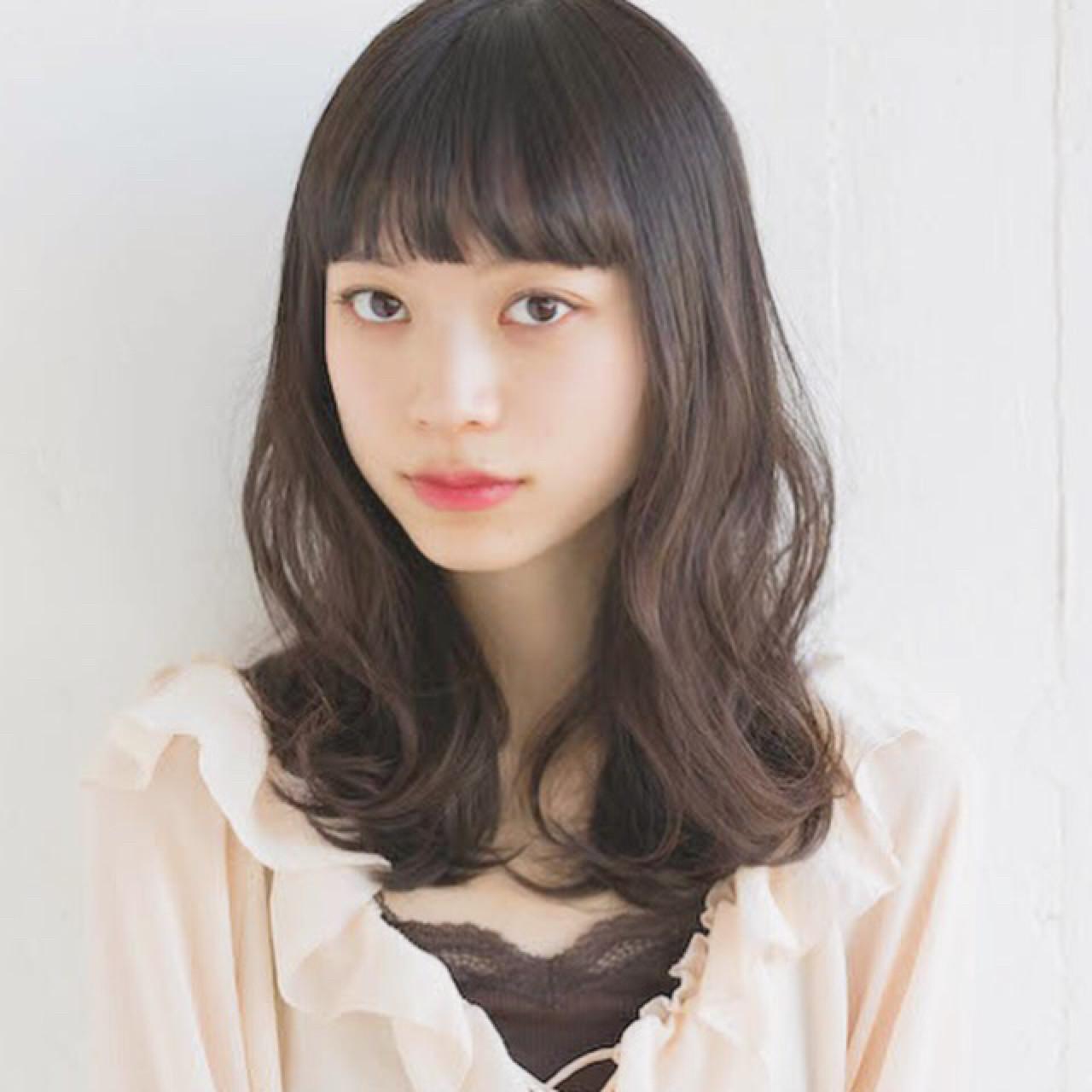 揺れる毛先が可愛い黒髪ミディアム♡ 竹澤 優/relian銀座