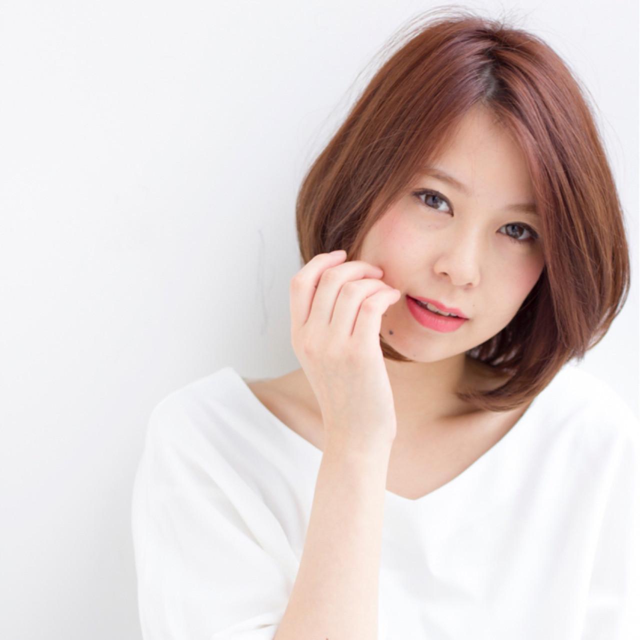 大人っぽいキレイめひし形ショートボブ 【ボブ美容師】東 純平