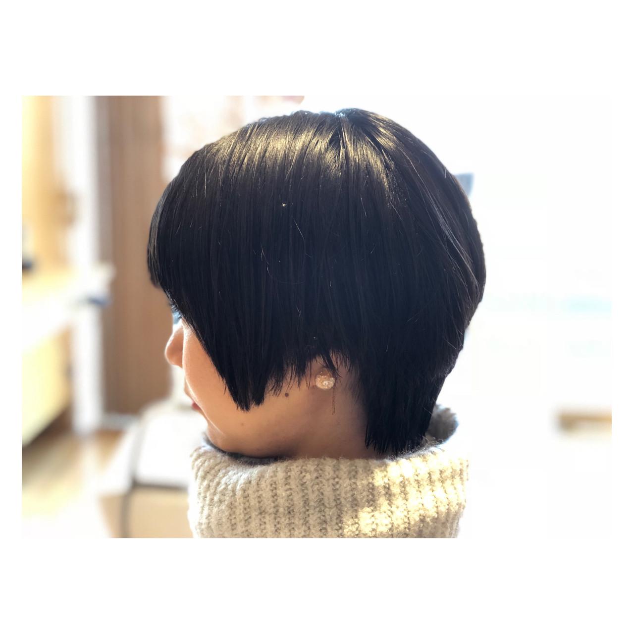 横顔もモード感たっぷりの黒髪ショート ババソウイチロウ  organic+eco