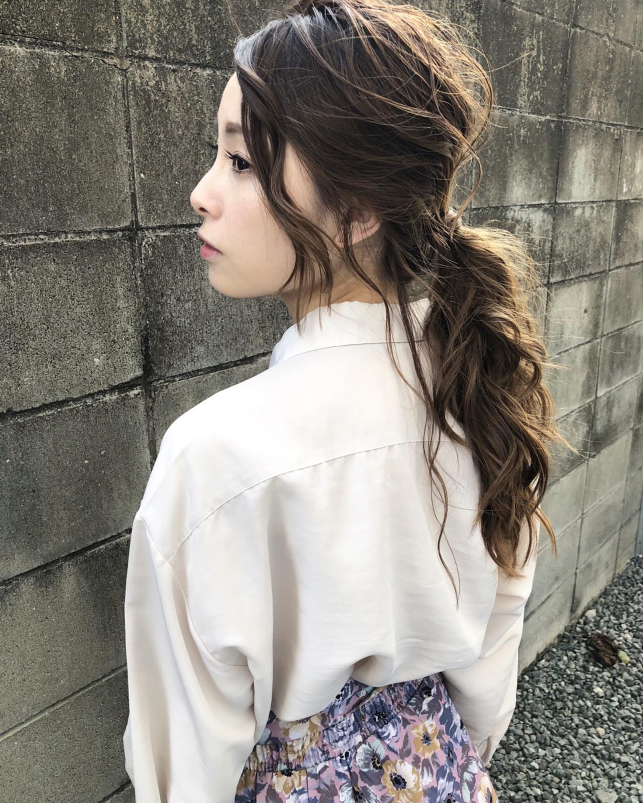 ローポニーテールで大人っぽくまとめ髪♡ Takashi Tetone | 1sT