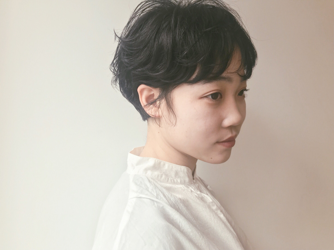 くせ毛風パーマで外国人風黒髪ショート 仙頭郁弥  LIM+LIM