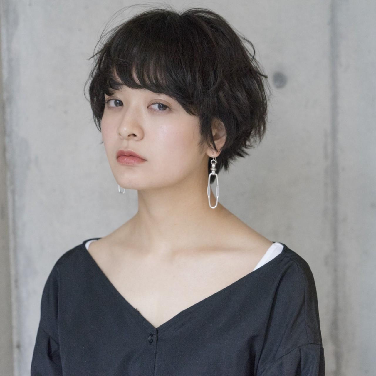 黒髪ショートボブヘアスタイル タカハシ アヤミ
