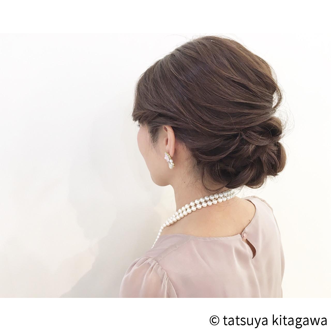 キレイなフォルムでフォーマル感のあるアップヘア tatsuya kitagawa