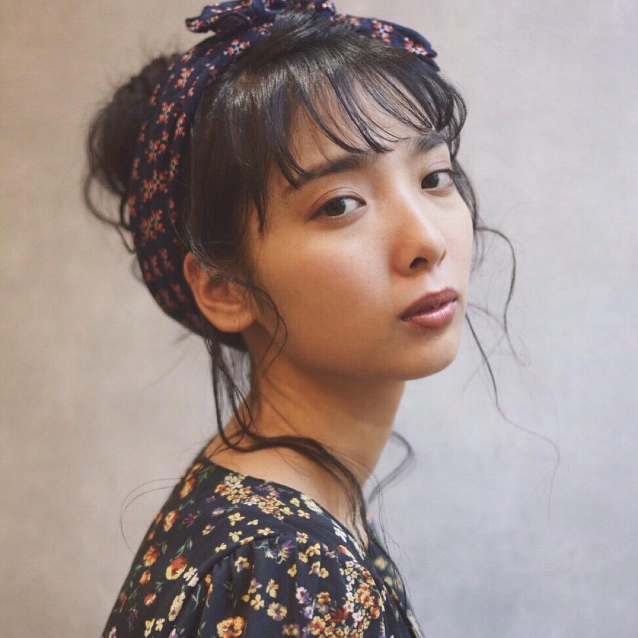 シースルーバング風ゆるお団子アレンジ Obayashi Natsumi