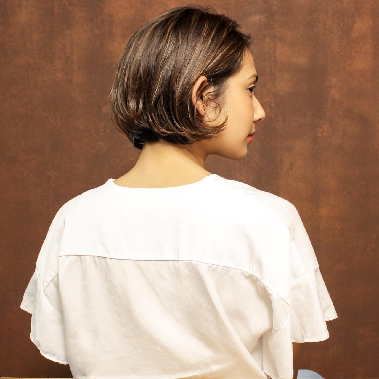 ローライトで3Dショートヘアに! Madoka / hair&make