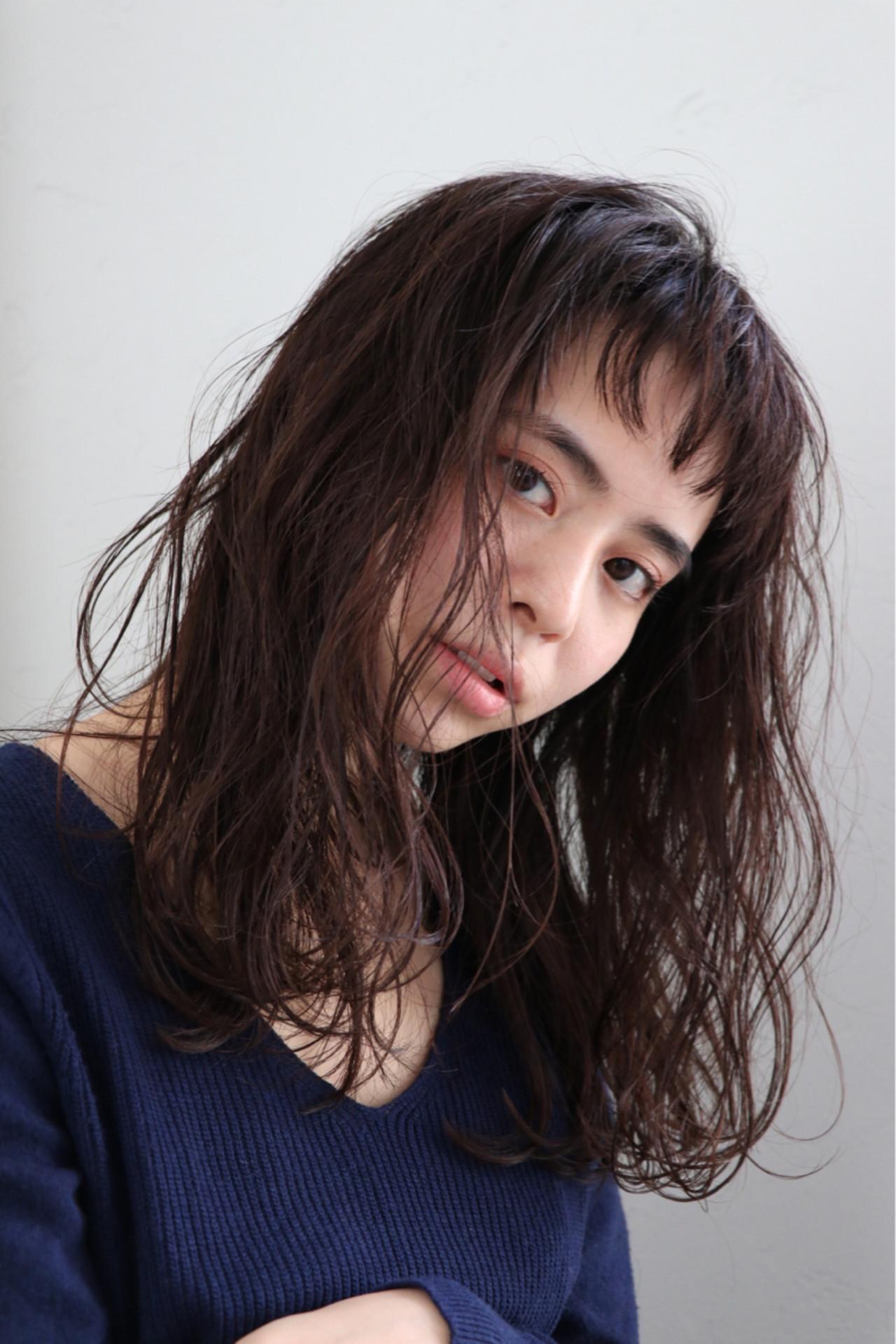 無造作パーマがおしゃれなセミディ♡ 浦野 陽介/joemi