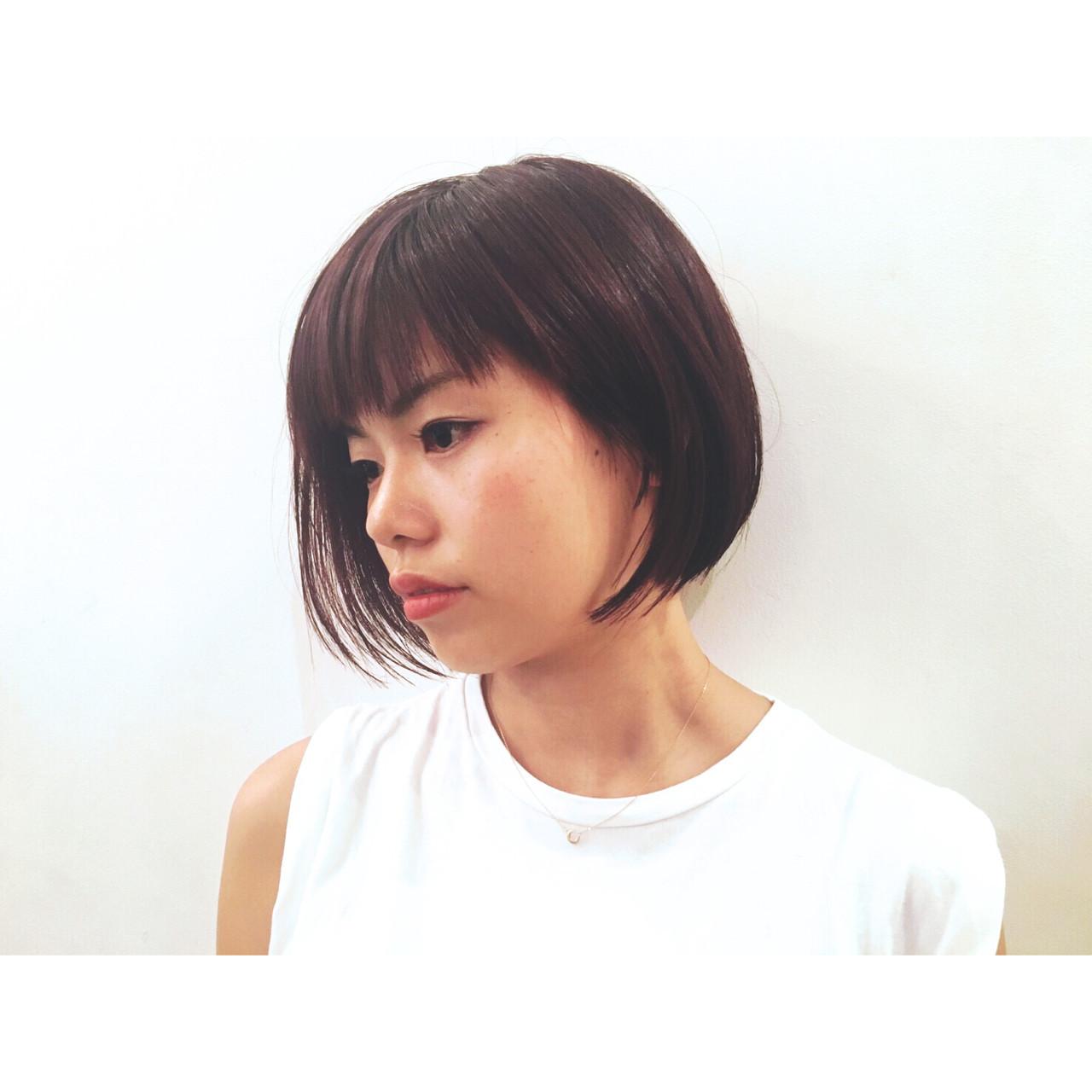 ぱっつん×アシメで上品な大人ショート 芦原 照成 | Nicole.