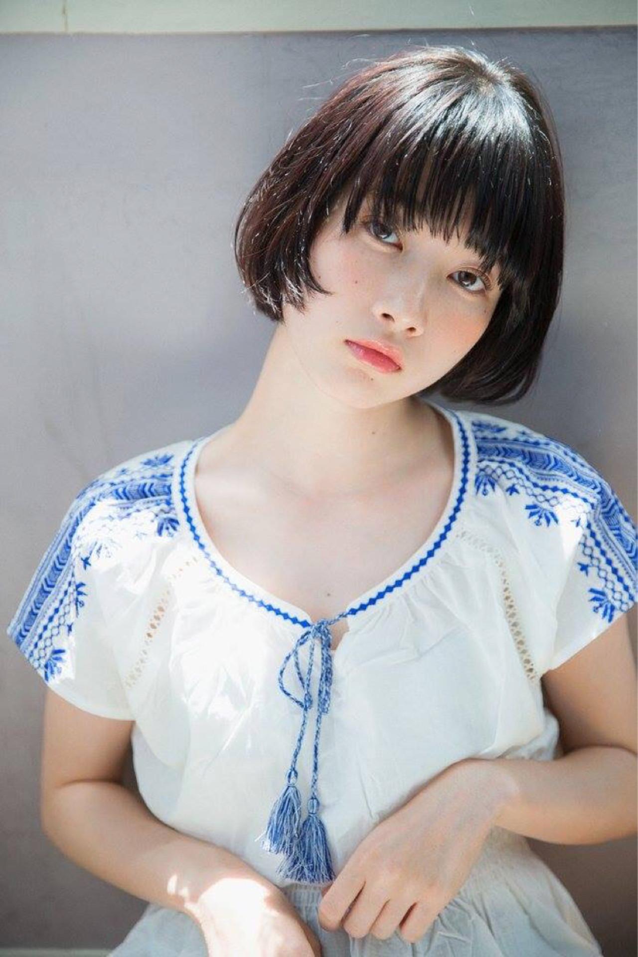 女の子らしい可愛いシンプルショートボブ 西川真矢/drive for garden