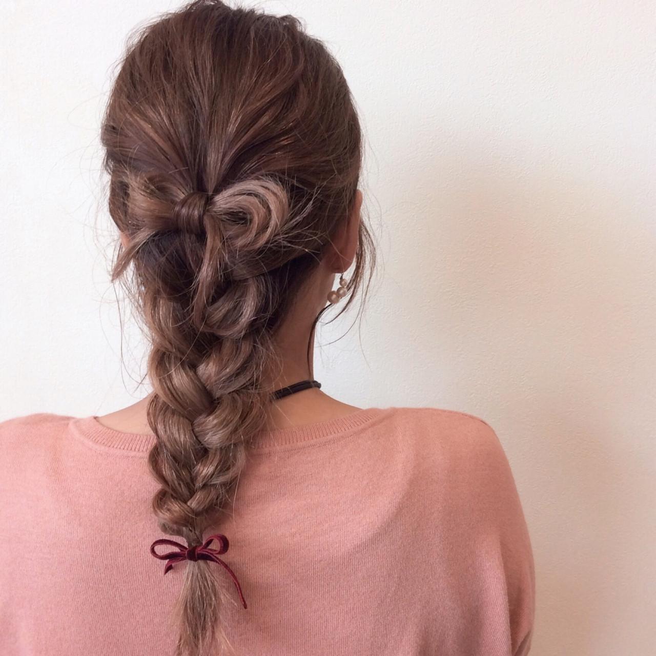 三つ編みができれば簡単!編みおろしヘア 石井美那 | BERA g hair