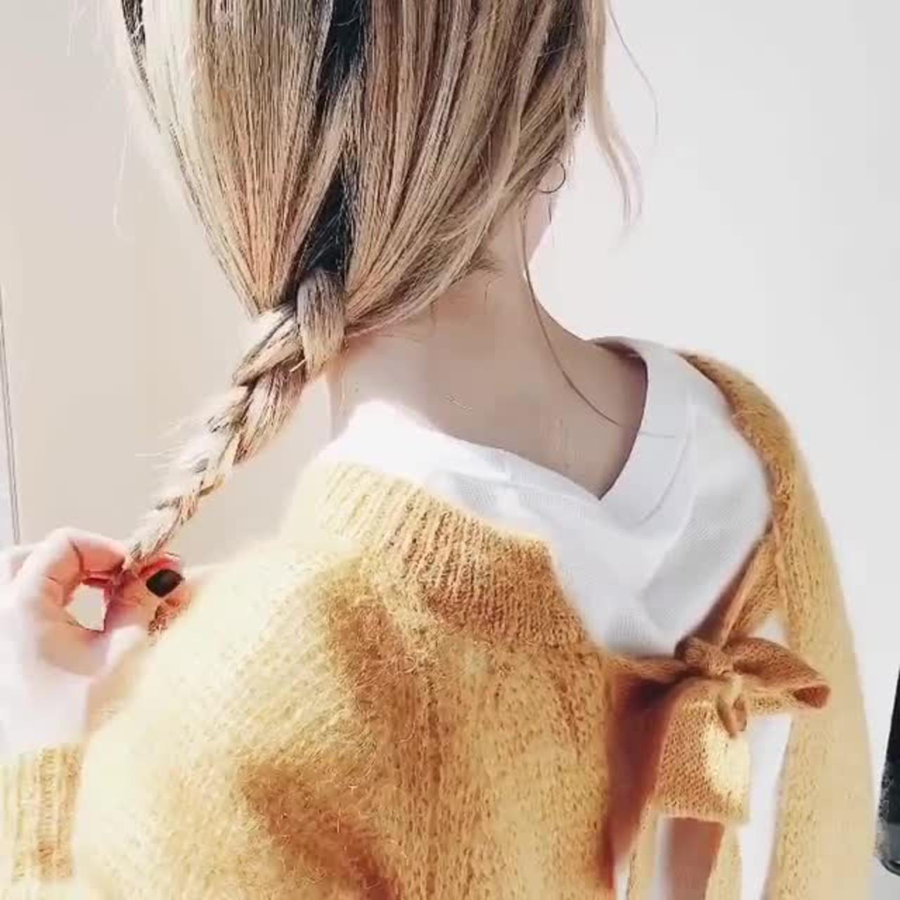 ラフな三つ編みポニーテールでカジュアルに 力石サトシ | HOMIE TOKYO