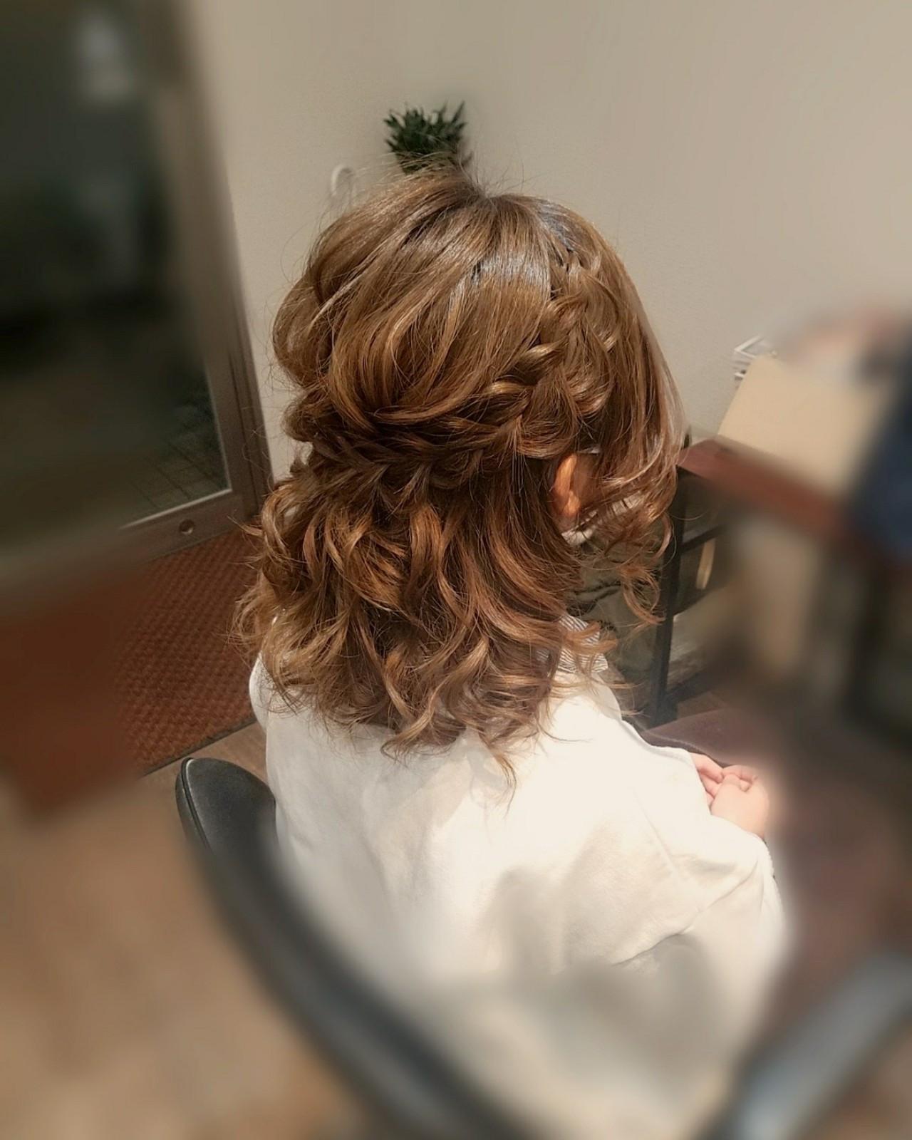 ミディアムにぴったりの髪型!ハーフアップ mai | HAIR SALON STELLA