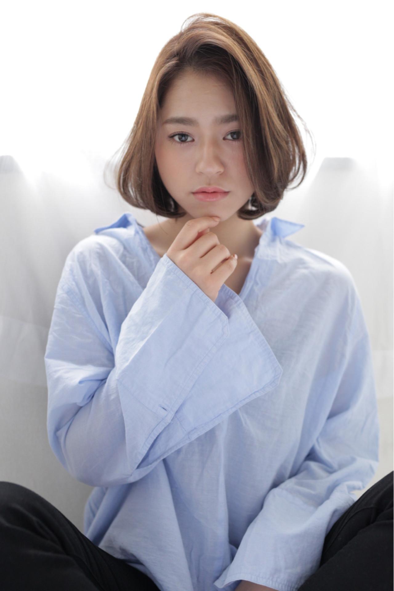 愛され♡ふんわりセンター分けボブ 石田 学史