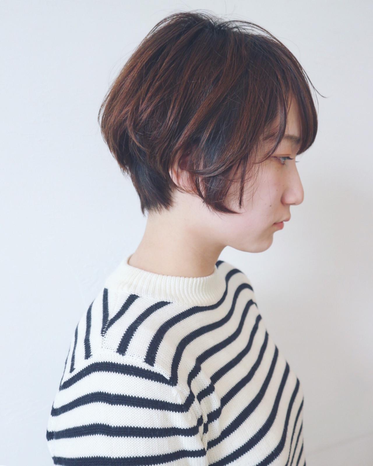 髪色で差をつける、メリハリショートボブ 三好 佳奈美